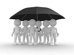 Group under umbrella